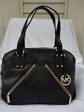 Michael Kors Portland Large Satchel Black Pebbled Leather  Retail 398.00