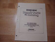 Bush Hog Round Bale Mover Parts Catalog Manual RBM 4 6 RBM-6GN hay spear 1988