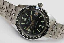 c.1970s vintage DIVER Mechanical Wristwatch w/ Rotating Bezel - WORKING FINE