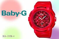 BGA-195M-4A  Baby-G Ladies Watches Resin Band New
