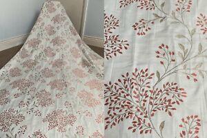 "Julian Charles 'Eden' Heritage Cream Teracotta Leaf Jacquard Curtains 70"" x 84`"
