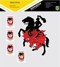 ** NEW ** NRL St George Dragons iTag Mega & Mini Decal Stickers Set