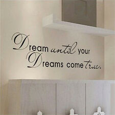 Dream Until Your Dreams Come True Quote Vinyl Wall Sticker Art Decals Home ba