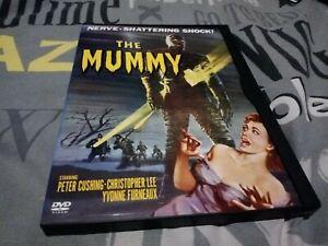 Hammer Horror The Mummy, region 1 snap/snapper/click case DVD Peter cushing.