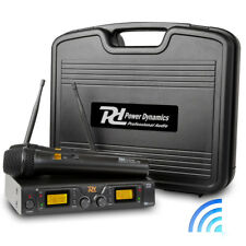 UHF Pro Dual Radio Wireless Microphone System Twin Mic Receiver Carry Case|PD782