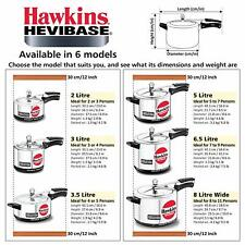 HAWKINS HEVIBASE ALUMINIUM PRESSURE COOKER ( INDUCTION BASE )