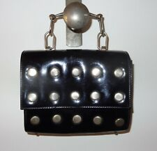 Dealer-Rita Antique Handbag lady leather with metal studs art deco