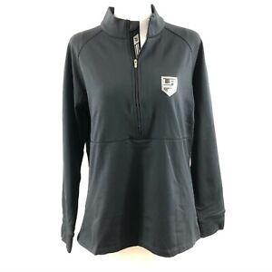 NHL Los Angeles Kings Womens Top Pullover 1/2 Zip Black Size L Levelwear