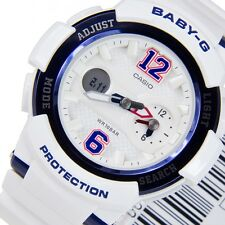 Casio Baby-G Womens Wrist Watch BGA210-7B2 BGA-210-7B2 Navy/White Analog-Digital