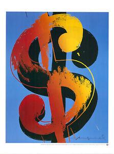 Andy Warhol - Dollar - Kunstdruck auf schwerem Papier