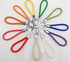 Fashion Unisex Leather Key Chain Ring Keyfob Car Keyring Durable Keychain Gift