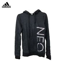ADIDAS MENS NEO BLACK LOGO HOODED HOODIE HOODY SWEATER RRP £29.99 SAVE 66%