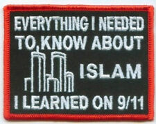 ISLAM 911 Embroidered Cool Quality Biker Vest Patch!!