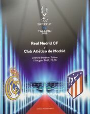 off. Programm & Aufstellung UEFA Super Cup 2018 Real Madrid - Atletico Madrid