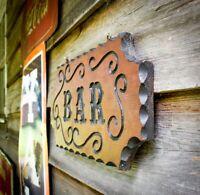 Vintage 1980s Wooden Bar Sign Free Hanging Man Cave Decor Rustic Folk Collective
