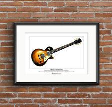 Slash's 1959 Gibson Les Paul Limited Edition Fine Art Print A3 size