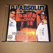 DJ Absolut Back Down w/ PRODIGY of Mobb Deep RARE NYC Hip Hop Mixtape Mix CD