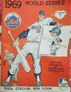 NY Mets1969 World Series baseball Program Unscored, Good Condition