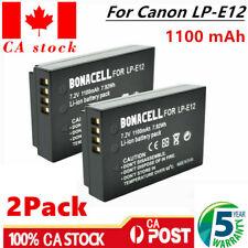 CA Ship! 2 x LP-E12 Camera Battery For Canon Rebel SL1,EOS M50,M2, M100,100D WM