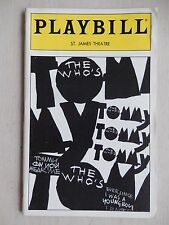 September 1994 - St. James Theatre Playbill w/Ticket - Tommy - Laura Dean