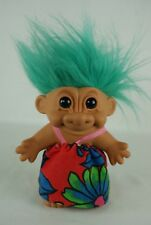 Russ Dam troll green hair 18 cm 90's