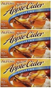 Alpine Spiced Cider Sugar-Free Apple Drink Mix 10Ct 3 Pack CRUSHED OUTER BOX