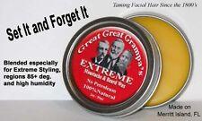 Stiff / Extreme - Mustache & Beard Wax 2oz - All Hair, Vitamins, NO Petroleum