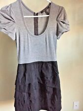 BCBGMAXAZRIA Women's Black/Gray T-shirt Dress Size 0
