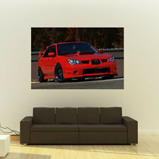 Poster of Subaru WRX STi on Enkei Wheels Giant HD Huge 54x36 Inch Print 137x91cm