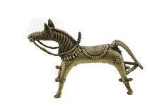 Figurine Cheval Art tribal Orissa Inde en Fil de Laiton Forge Art tribal 7488