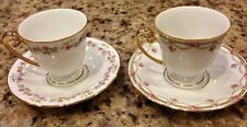 VTG Lot Of 2 Golden Crown E & R Fine China Western Germany Mini Cups & Saucers