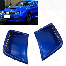 2x For Subaru Impreza STI 07-15 Blue Front Bumper Left+Right Air Vent Grille Rep