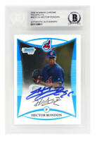 Hector Rondon Signed INDIANS 2008 Bowman Chrome Rookie Card #BCP214  - BECKETT