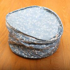 Blue and White Floral Soft Sided Plate Carrier Cozy