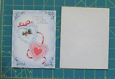 Vtg Valentine Day To One I Love Card Die Cut Out Cottage House Gibson 1940