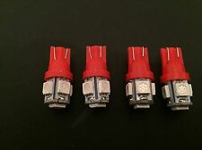 4x 5 SMD LED RED SIDE LIGHT BULB T10 W5W 501 WEDGE 12V DASH CAR LEDS