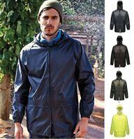 REGATTA PRO STORMBREAK Mens Waterproof Jacket - Hood, Drawcord Hem, Many Colours