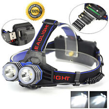 13000 Lumens LED 2X XML T6 Headlamp Headlight Flashlight Head Torch AAA/AA/18650
