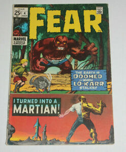 FEAR #4 in FN 6.0 Nice Book 1971 classic Marvel Horror Comic KIRBY - DITKO