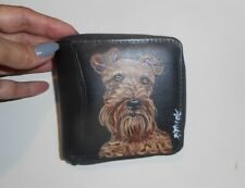 Irish Terrier Dog Hand Painted Unisex Leather Wallet
