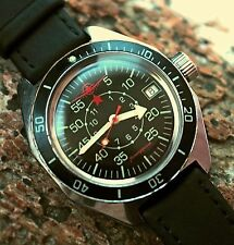 VOSTOK AMFIBIAN Komandirskie USSR Russian Military Mens Wristwatch q /Serviced