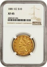 1881-CC $10 NGC XF45 - Liberty Eagle - Gold Coin - Popular Carson City Issue