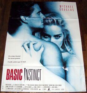BASiC iNSTiNCT Michael Douglas, Sharon Stone Paul Verhoeven LARGE french POSTER