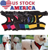 US Adjustable Nylon Pet Dog Cat Vest Harness Collar Puppy Strap Mesh Breathable