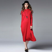 High end plus size ladys dress turtleneck loose casual Knitting sweater dresses