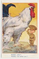 FRANCE (Verdun, we salute you) postcard WORLD WAR I 1916