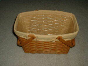 Longaberger Magazine Basket With Liners 2002