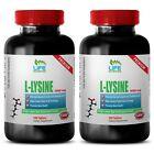 lysine supplement - L-Lysine 1000mg 2 Bottles - natural anti depressant