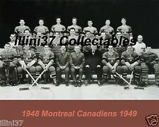 1948-49 MONTREAL CANADIENS NHL HOCKEY TEAM 8X10 PHOTO PICTURE