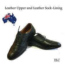 Men's Leather shoes office Dress Casual Formal Lace up Handmade Genuine Shoes 8